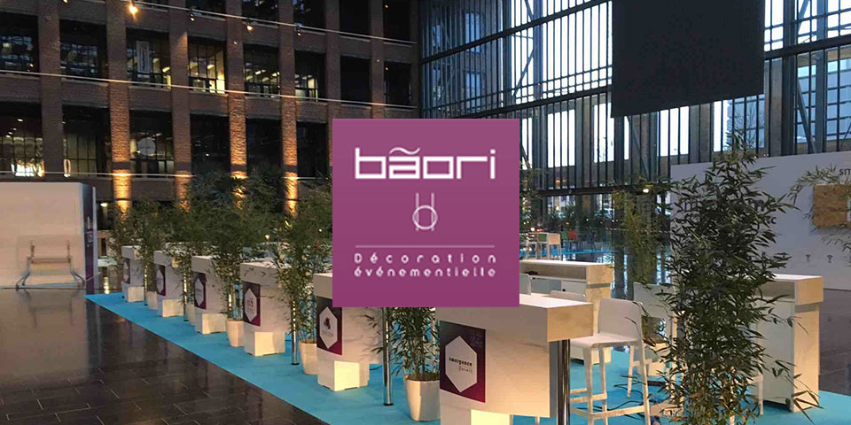 Cr ation de stands et salons professionnels d coration v nementiel professionnel baori for Stand evenementiel salon