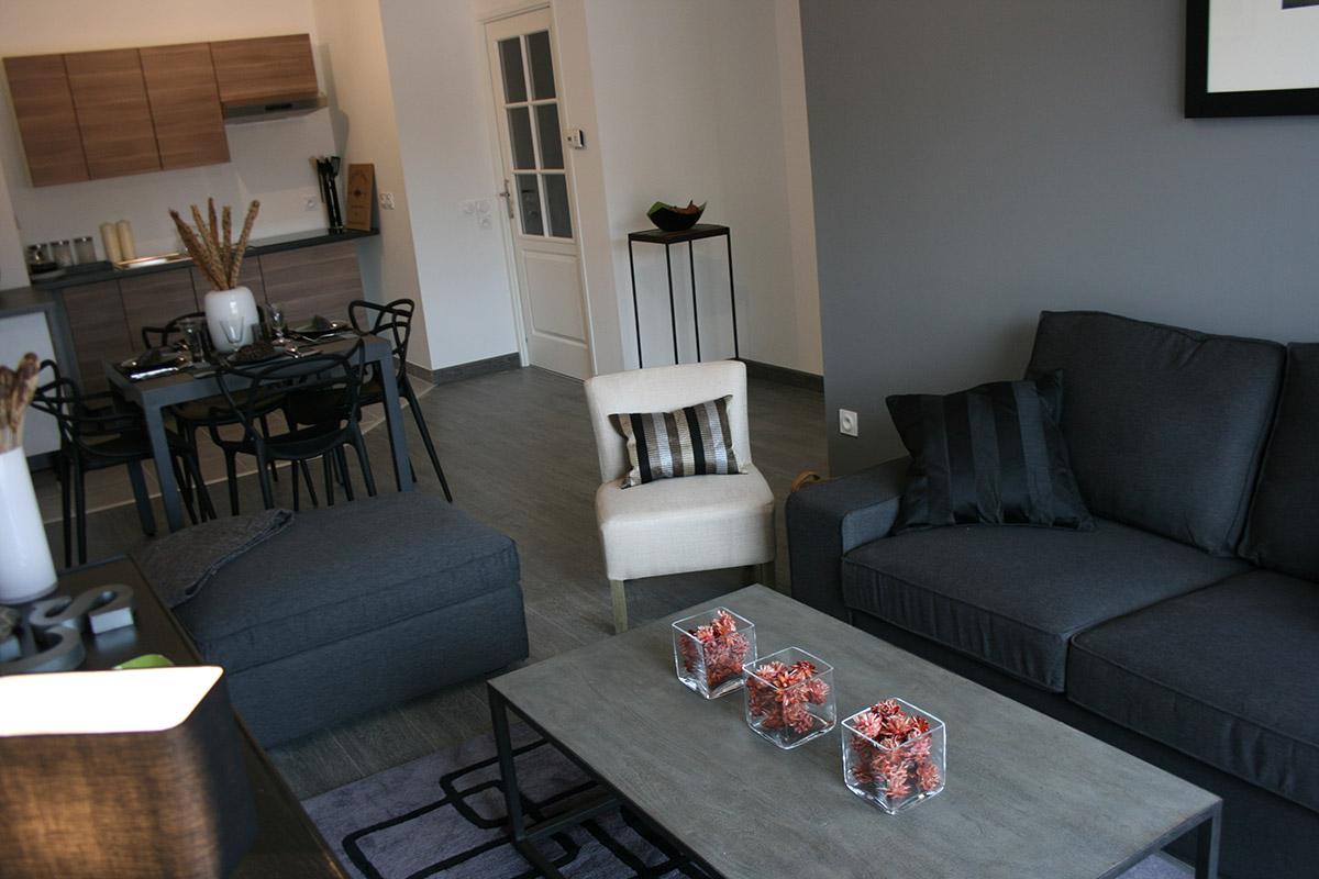 décoration d'appartement et maison témoin pour programme immobilier